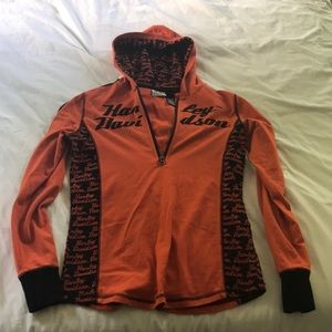 Women's Harley Davidson zip up hoodie